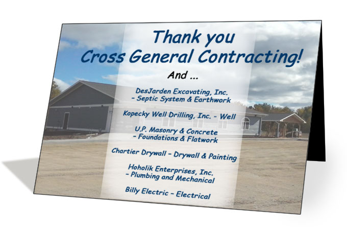 Thank You! Cross General Contracting